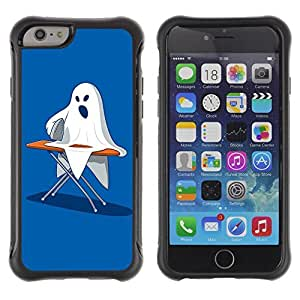 Hybrid Anti-Shock Defend Case for Apple iPhone 6 4.7 Inch / Ghost Ironing Poster