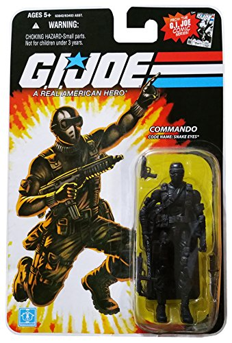 G.I. Joe 25th Anniversary Comic Series Cardback: Snake Eyes (Commando) 3.75 Inch Action (25th Snake Eyes)