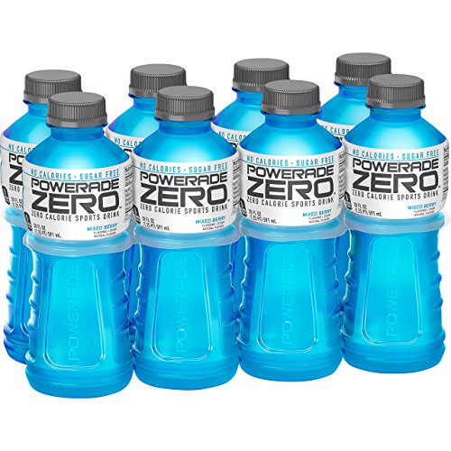 POWERADE ZERO, Zero Calorie Electrolyte Enhanced Sports Drinks, Mixed Berry, 20 fl oz, 8 Pack by Powerade