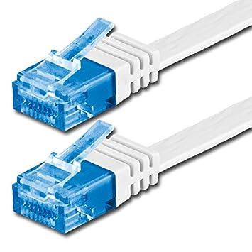 7m Cat6a Flach Netzwerk Patch Kabel Cat 6a 10000 Mbit Amazon De