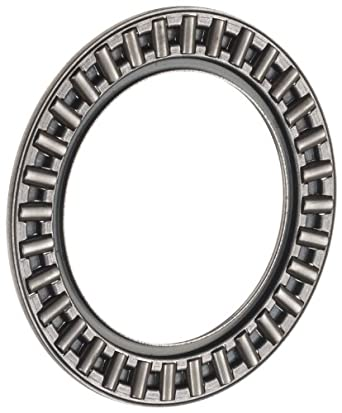 INA AXK4060 Thrust Needle Bearing, Axial Cage and Roller, Steel Cage, Open End, Metric, 40mm ID, 60mm OD, 3mm Width, 6000rpm Maximum Rotational Speed, 25500lbf Static Load Capacity, 6300lbf Dynamic Load Capacity