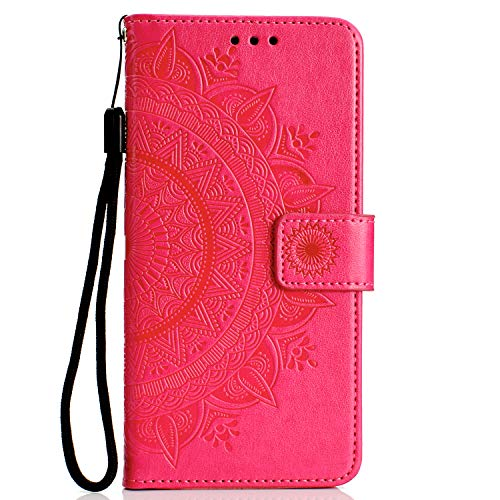 - Samsung Galaxy A10 Case, Lomogo Leather Wallet Case with Kickstand Card Holder Shockproof Flip Case Cover for Samsung Galaxy A10 - LOHHA080133 Red