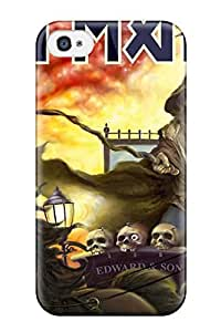 High Quality Shock Absorbing Case For Iphone 4/4s-iron Maiden