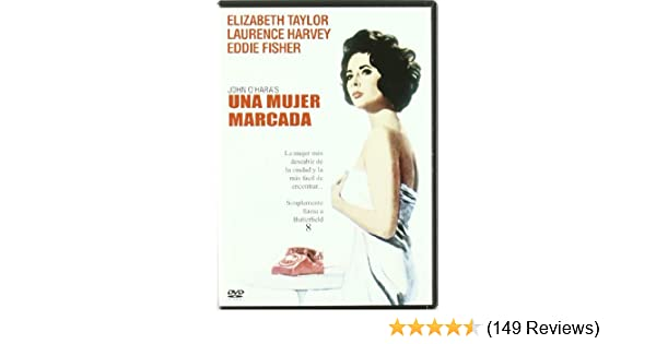 Amazon.com: Una Mujer Marcada (Butterfield 8) (1960) (Non Us Format) (Region 2) (Import): Laurence Harvey, Eddie Fisher, Dina Merrill, Mildred Dunnock, ...