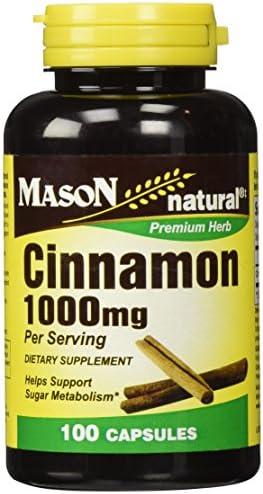 Cinnamon 1000 Milligrams 100 Capsules