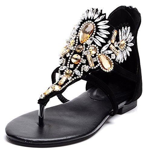 Odema Metallic Rhinestone Gladiator Sandals product image