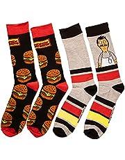 Bob's Burgers Men's 2-Pack Crew Socks