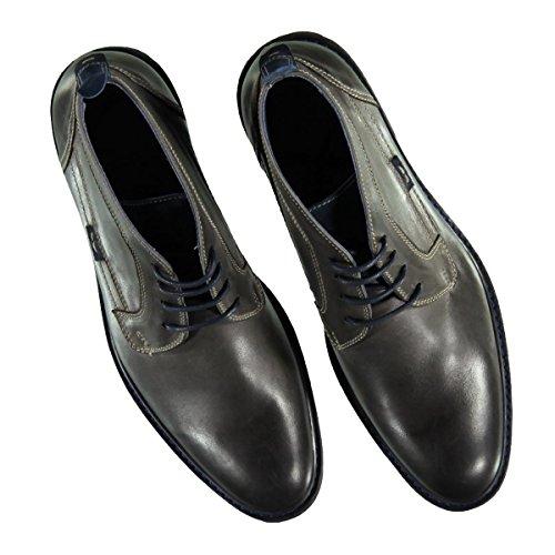 engbers Herren Boots Aus Weichem Hochwertigem Leder, 22259, Grau