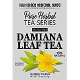Damiana Leaf Tea - Pure Herbal Tea Series by Palm Beach Medicinal Herbs (15 Tea Bags) 100% Natural