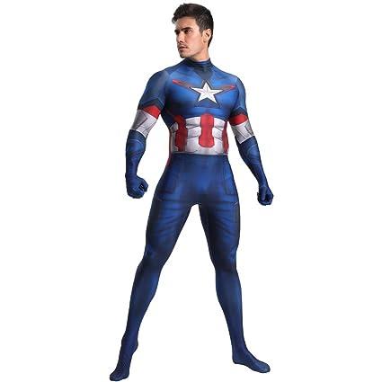 FYBR Disfraz de Capitán América SuperSkin para Adultos ...