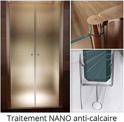 Largeur r/églable//Verre Transparent 104 /à 108 cm CADENTRO Porte de Douche Hauteur 195 cm