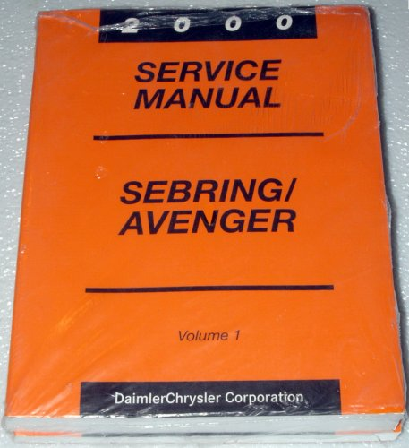 2000 Chrysler Sebring, Dodge Avenger Service Manuals (2 Volume Complete ()
