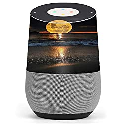Skin Decal Vinyl Wrap for Google Home stickers skins cover/ Full Moon and Sea