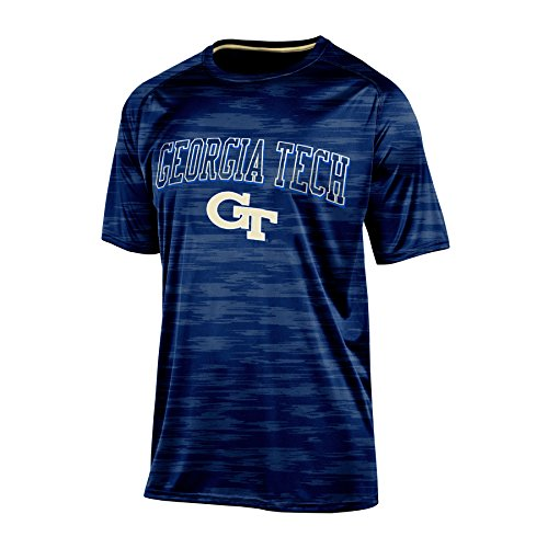 NCAA Georgia Tech Men's Short sleeve Crew Neck RA Tee, Medium, Navy - Georgia Tech Tailgate