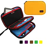 Khanka Universal Portable Electronics Accessories Double Compartment Carry Travel Case For Hard drive,PS Vita,Sony PSVITA,Nintendo 3DS XL,Travel Document and Passport Boarding Pass Ticket (S-Orange)