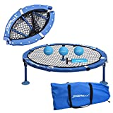 JOGENMAX Spike Battle Ball Game Set, Fully Foldable, Includes 3 Balls,Drawstring Bag,Played Indoors/Outdoors, Lawn, Yard, Beach, Tailgate, Park, Gift for Boys, Girls, Teens, Adults, Family