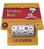 Peanuts Snoopy Sticker Roll 110 Stickers - Party Favors - Arts & Crafts