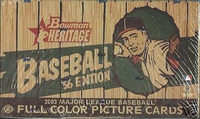 2003 Bowman Heritage Baseball Card Unopened Hobby Box Bowman Heritage Baseball Hobby Box