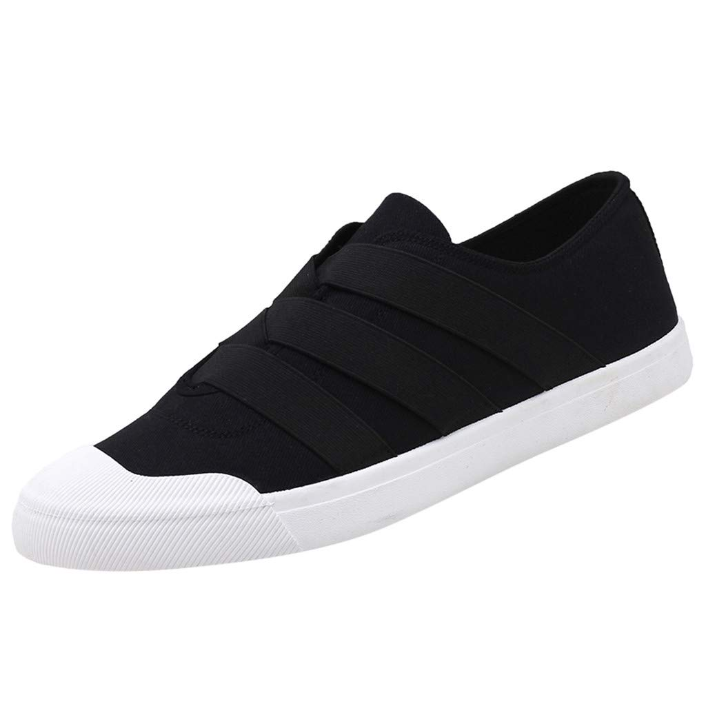 YKARITIANNA New Mens Summer Casual Shoes Fashion Mesh Breathable Male Flats Canvas Shoes 2019 Summer Black by YKARITIANNA Clothing