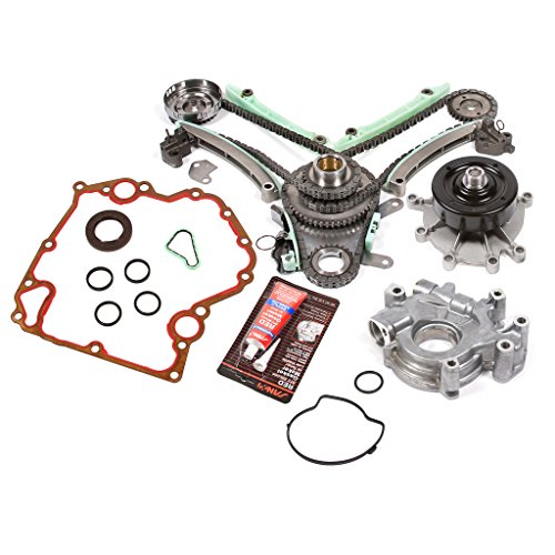 Evergreen TKTCS5047LWOP 03-08 Dodge Jeep Mitsubishi 4.7 SOHC 16V VIN J, N, P Timing Chain Kit Timing Cover Gaskets Oil Pump GMB Water Pump