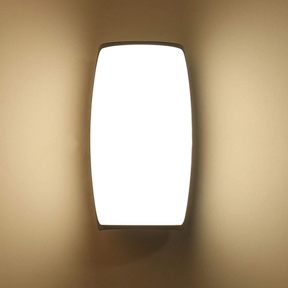 BIN LED Parete Cilindrica Esterna Nera Lampada da Parete Impermeabile 220V 22.5  12.5  15,bianca
