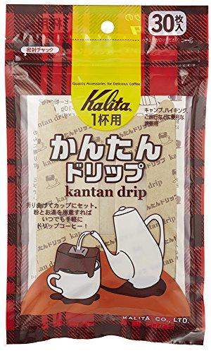 드립커피 Kalita 칼리타 커피 필터 간단 드립백 커피 30 매들어감 #08029