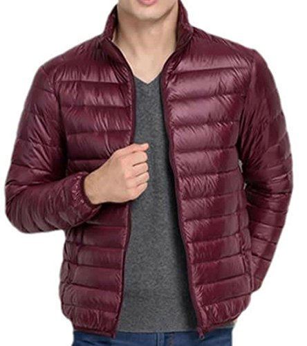 Solid Coats red Fashion Jacket EKU Down S Lightweight Mens wine w6PqAfft