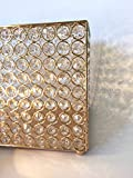 Perfectmaze Crystal Money Bank/ Wedding Card Letter Rectangle Box for Wedding Birthdays Celebrations Hand Made (Gold)