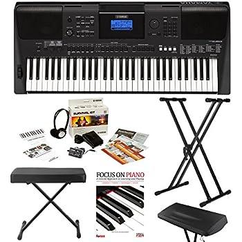 Yamaha psre453 61 key touch response for Yamaha psr ew300 keyboard