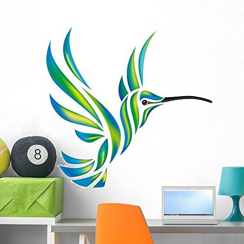 Wallmonkeys Humming-bird Vector Wall Decal Peel Stick Animal Graphics (36 in W x 35 in H) WM272127