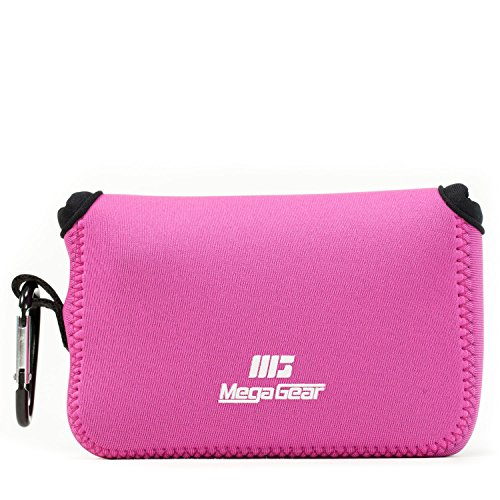 Megagear Canon PowerShot G1 X Mark III Ultra Light Neoprene Camera Case, with Carabiner, Hot Pink (MG1380)