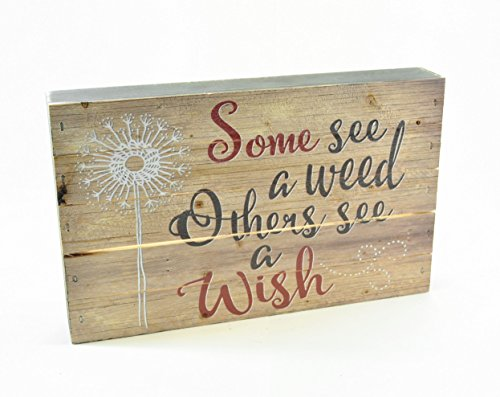 Some See A Weed Others See A Wish Pallet Box Sign 7.5 x 12 - Mrc Box