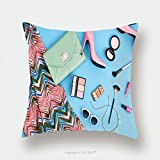 Custom Satin Pillowcase Protector Summer Urban Summer Girl Colorful Outfit Summer Fashion Stylish Clothes Cosmetics Makeup 425050222 Pillow Case Covers Decorative
