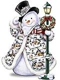 #4: DIY 5D Diamond Painting Kit, Square Diamond Cross Stitch Christmas Cute Snowman Embroidery Art Craft for Canvas Wall Decor