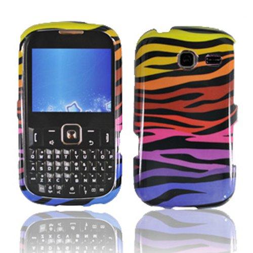 LF 3 in 1 Hard Case Cover, Stylus & Droid Screen Wiper Bundle Accessory For Tracfone Straight Talk Prepaid Cell Phone Samsung S380C (Color Zebra) (Samsung S380c compare prices)