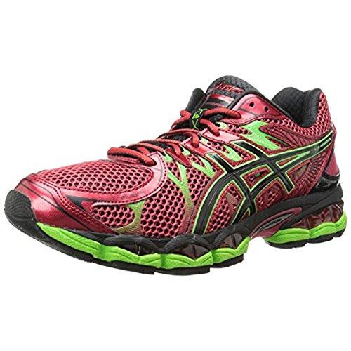 ASICS Men's Gel-Nimbus 16 Running Shoe, Chinese Red/Black/Flash Green, 15 M US