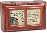For My Mother Rich Woodgrain Finish Petite Jewelry Music Box - Plays Wind Beneath My Wings