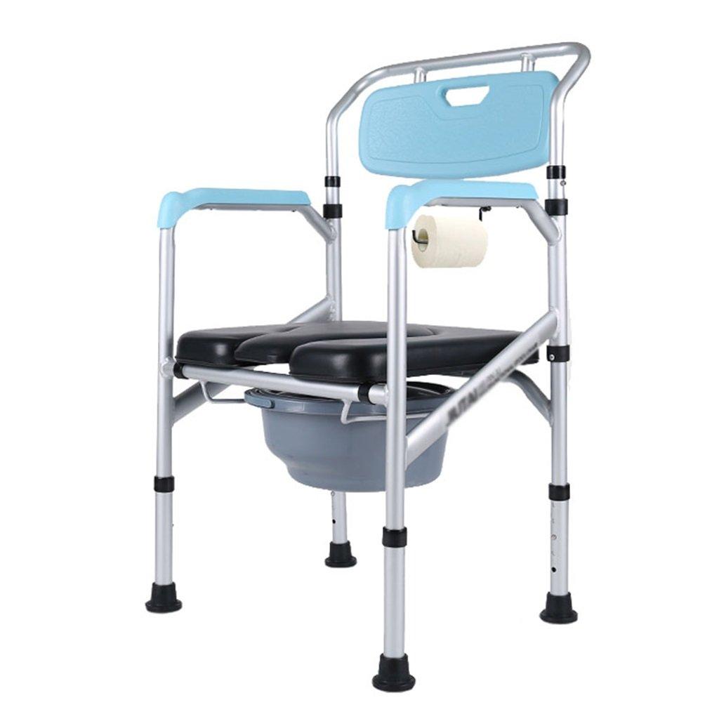 最大80%オフ! ポータブル高さ調節可能なアルミニウム合金のトイレの椅子妊娠中の女性のトイレシート頑丈で丈夫な高齢者バケツシャワースツールバケツの障害防止アンチスリップ手すりトイレの椅子Max.150kg B07F6YQJ6Y B07F6YQJ6Y, リーナショップ:c7039a2d --- eastcoastaudiovisual.com
