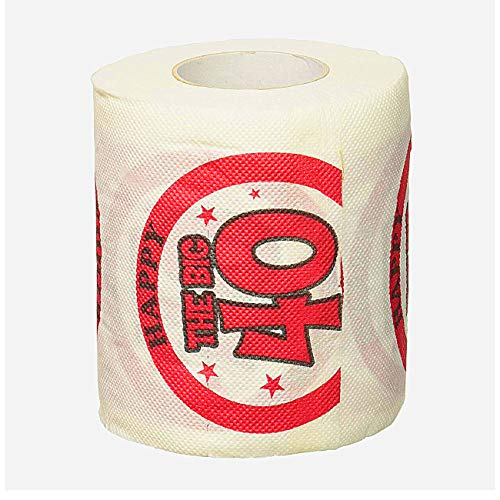 Forum Novelties Happy 40 Birthday Toilet Paper