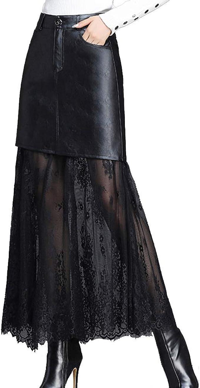 GCC Falda De Cuero Malla Negra para Mujer Nuevo Cintura Alta ...