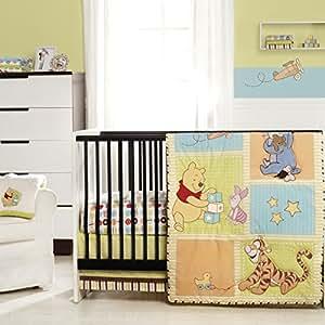 Amazon.com : WINNIE THE POOH Tidy Time 3-Piece Crib ...