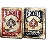 Bicycle 1800 Vintage Series Playing Cards 2 Deck Set by Ellusionist 1 Red 1 Blue deck