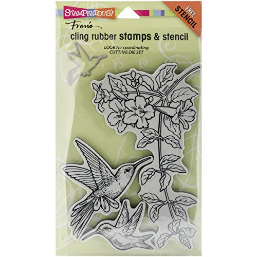 STAMPENDOUS Cling Rubber Stamp Set, Hummingbirds by STAMPENDOUS