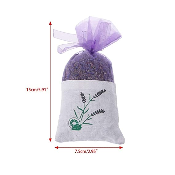 /… MQFORU Dried Lavender Flower Scented Bio 100/% Natural Super Quality Incomestible for Edible Flowers Tea Lavender Bag 10 Sachets