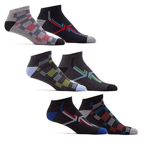 Mens Multi Color Lightweight Stretch Low Cut Casual Athletic Ankle Socks 6 Pack