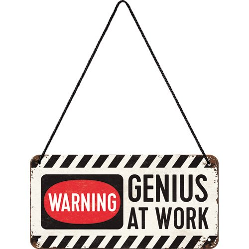 10/x 20/cm Nostalgic-Art 28007/Respect Genius at Work h/ängeschild