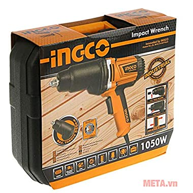 INGCO POWERTOOLS & HANDTOOLS 1050W Impact Wrench with 6 Pieces Sockets (17, 18, 19, 21, 23, 24 mm) and 125 mm Adaptor 5