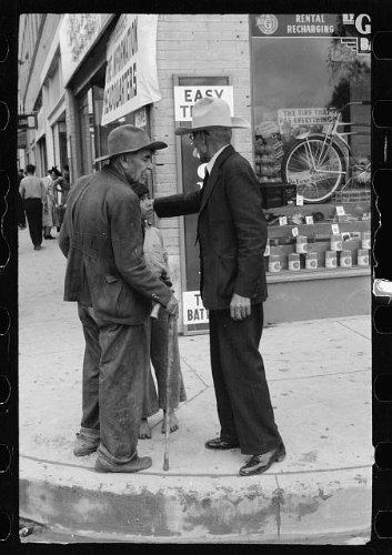 Photo: Mexicans on street corner,Brownsville,Texas,TX,February - Tx Brownsville In Stores