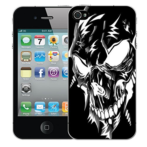 Mobile Case Mate iPhone 4 Silicone Coque couverture case cover Pare-chocs + STYLET - Black Robotic pattern (SILICON)