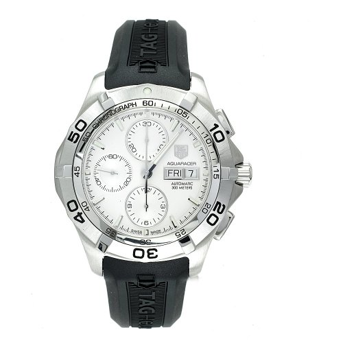 - TAG Heuer Men's CAF2011.FT8011 Aquaracer Automatic Chronograph Rubber Strap Watch